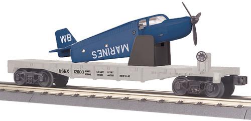 MTH RailKing Trains 30-76766 US Marine Corps Flat Car With Airplane O Gauge