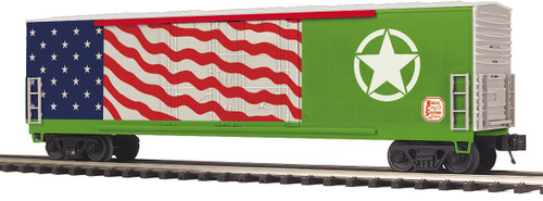 MTH Trains 20-93869 KCS US Army Veterans Double Door Plugged Box Car O Scale