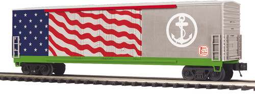 MTH Trains 20-93870 KCS US Navy Veterans Double Door Plugged Box Car O Scale