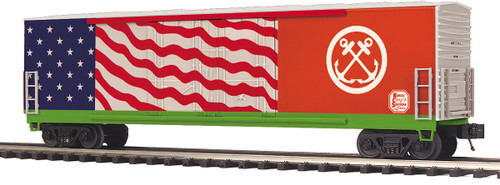 MTH 20-93872 KCS US Coast Guard Veterans Double Door Plugged Box Car O Scale