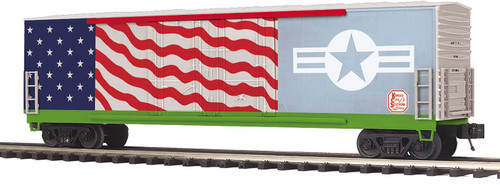 MTH 20-93873 KCS US Air Force Veterans Double Door Plugged Box Car O Scale