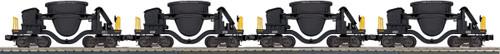 MTH RailKing Trains 30-70100 United States 4-Car Slag Car Set Black O Gauge