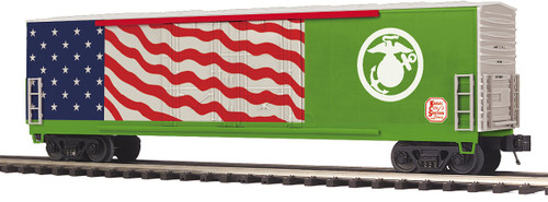 MTH Trains 20-93871 KCS US Marines Veterans Double Door Plugged Box Car O Scale