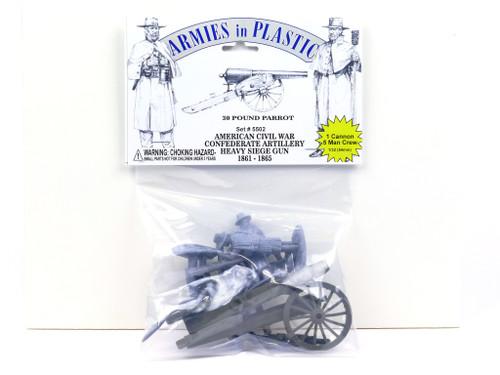 Armies In Plastic 5502 American Civil War Confederate Artillery Heavy Siege Gun