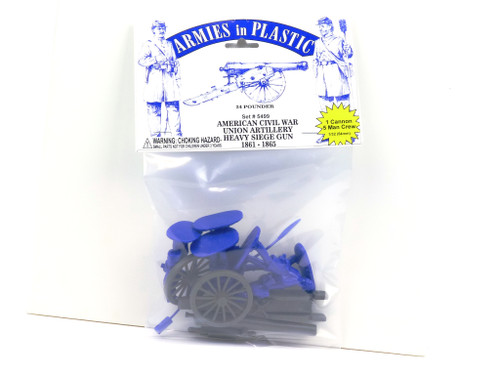 Armies In Plastic 5499 American Civil War Union Artillery Heavy Siege Gun