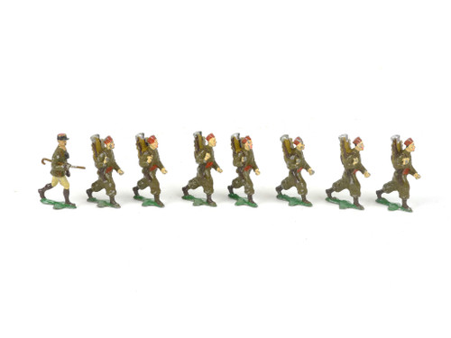 Authenticast Comet Toy Soldiers 612 French Zouaves Marching 1945