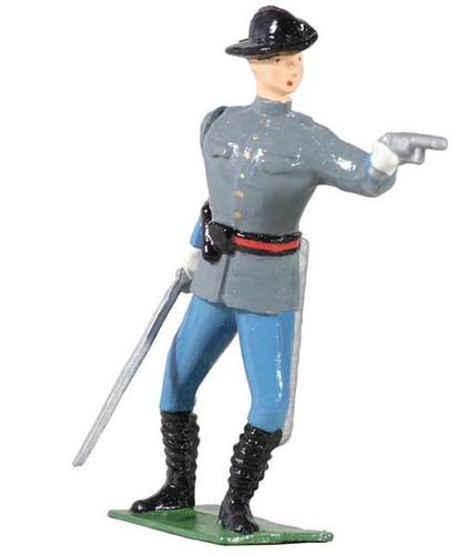 WBritain Toy Soldier 49030 American Civil War Confederate Officer 54mm