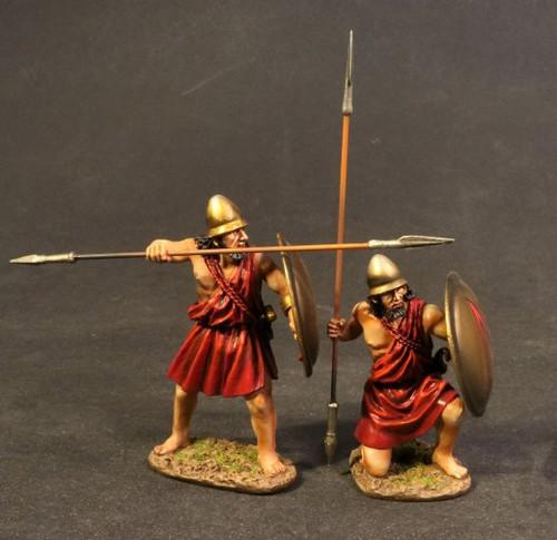 John Jenkins Designs SPT-05A Spartan Warriors With Bronze Lambda Shields