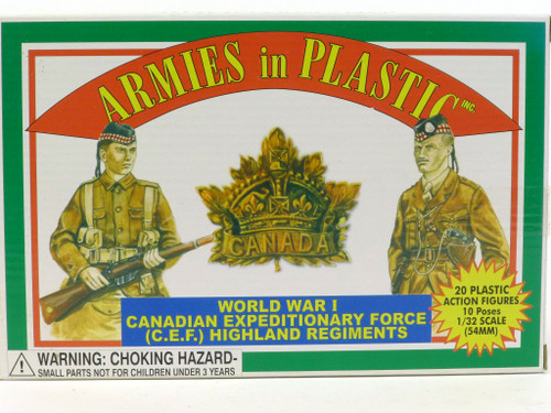 Armies In Plastic 5409 WWI Canadian Expeditionary Force CEF Highland Regiments