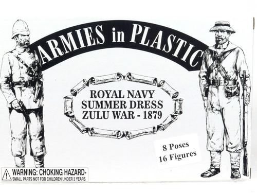 Armies In Plastic Toy Soldiers 5511 Royal Navy Summer Dress Zulu War 1879