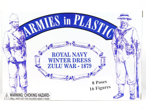 Armies In Plastic Toy Soldiers 5510 Royal Navy Winter Dress Zulu War 1879