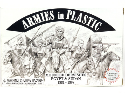 Armies In Plastic Toy Soldiers 5490 Mounted Dervishes Egypt And Sudan 1881-1898
