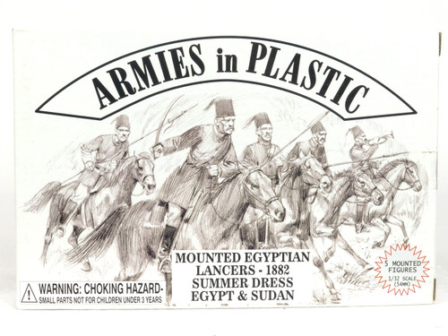 Armies In Plastic 5488 Mounted Egyptian Lancers Summer Dress 1882 Egypt & Sudan