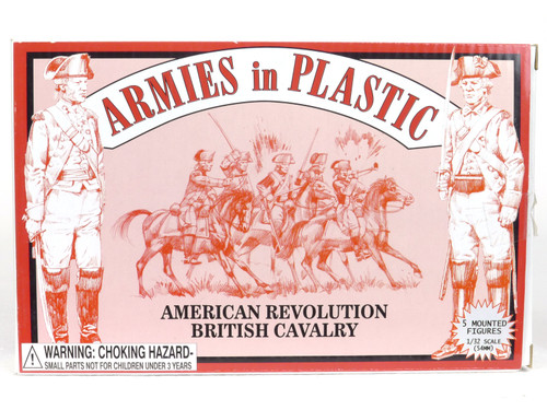 Armies In Plastic Toy Soldiers 5471 American Revolution British Cavalry 54mm
