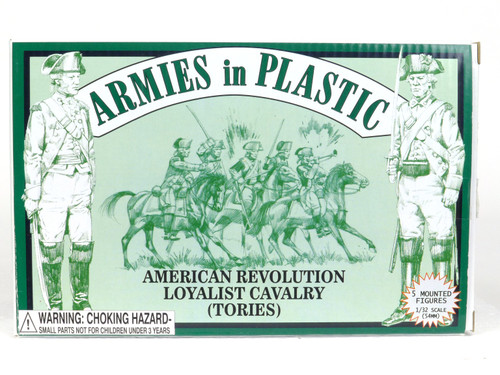 Armies In Plastic Toy Soldiers 5472 American Revolution Loyalist Cavalry Tories