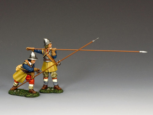 King & Country PnM-S05 Pike And Musket Crouching and Presenting Pikemen Royalist