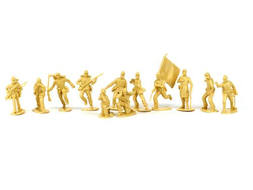 TATS American Civil War 54mm Union Artillery Plastic Toy Soldiers Figures Beige