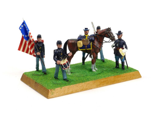 Alymer Military Miniatures 240 American Civil War Union Infantry Group Diorama