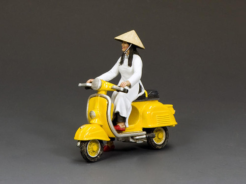 King & Country Soldiers VN106 Vietnam War The Golden Yellow Vespa Girl