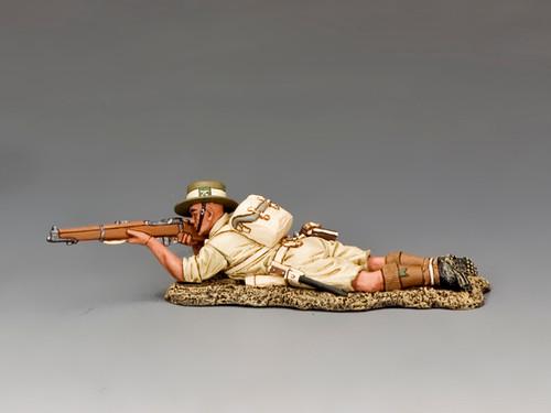 King & Country FOB148 WWII Fields Of Battle Gurkha Lying Prone Firing Rifle