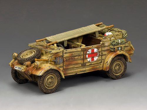 "King & Country WH094 WW2 Wehrmacht The ""Afrika Korps"" Kubelwagen Ambulance"