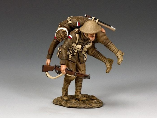 King & Country Soldiers FW195-V First World War Wounded 1/30 Scale Collectible