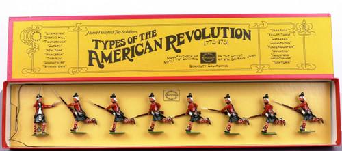 W Hocker Toy Soldiers Set 173 British Highlanders Charging 8 Pieces