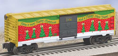 Lionel Trains 6-25008 O Gauge 2006 Christmas Boxcar