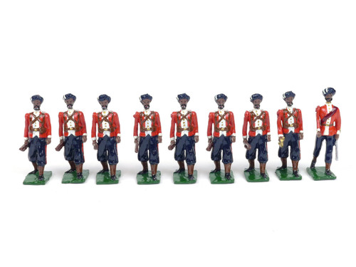 Rolf W. Nelson Toy Soldiers 1st Madras Infantry 9 Piece Set