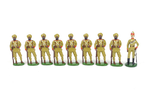 Rolf W. Nelson Toy Soldiers 26th Punjab Infantry 9 Piece Set