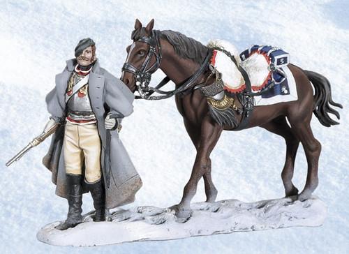 Andrea Black Hawk BH1013 Walking Cuirassier with Horse Napoleon's Retreat