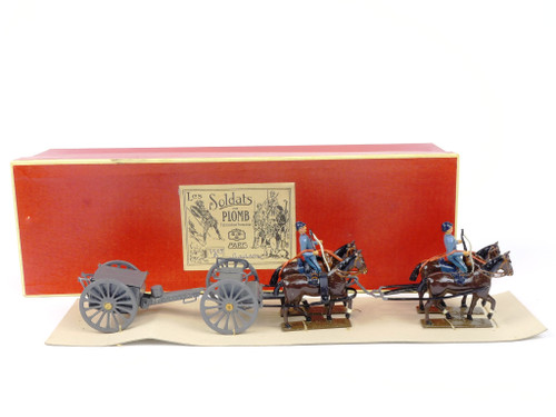 Mignot Toy Soldiers 150gB Horse Drawn French Caisson World War I