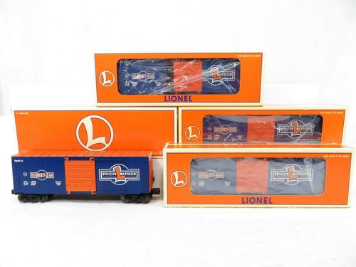 Lionel 1997 Centennial Series Hi Cube Box Car 4-Car Set 6-29220 O Gauge