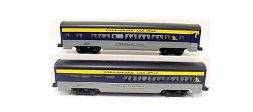 Lionel Trains 6-19164 Chesapeake And Ohio Aluminum Passenger Cars 2-Pack
