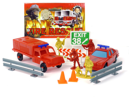 Billy V IMX45100 Fire Rescue Assortment Plastic Toy Play Set