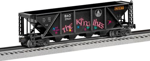 Lionel 6-27431 B&O CSXT The King Lives Quad Hopper O Gauge Trains