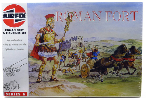 Airfix 06705 Roman Fort And Figurines Set Snap Together Playset