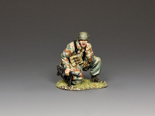 King & Country Soldiers LW079 Luftwaffe FJ Shouting NCO