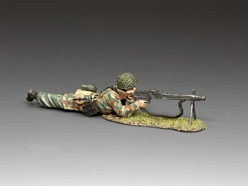 King & Country Soldiers LW080 Luftwaffe FJ MG42 Gunner