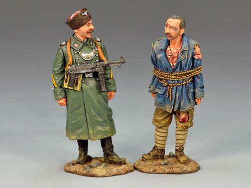 King & Country WS142 WWII Waffen SS Cossack Feldgendarmerie With Prisoner