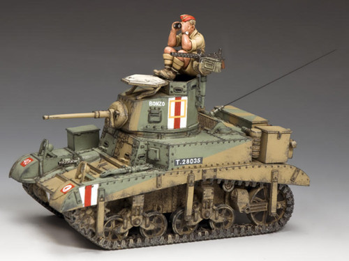 King & Country Soldiers EA106 WWII Eighth Army M3 Stuart Honey Desert Tank