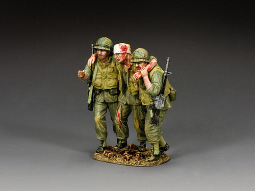 King & Country Soldiers VN068 Vietnam War The Walking Wounded Trio