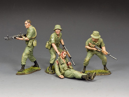 King & Country Soldiers VN082 Vietnam War The Battle Of Long Tan Set No 2