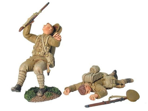 WBritain 17914 British 4th Battalion Royal Fusiliers Wounded and Dead