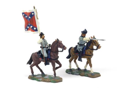 WBritain 17272 Confederate Captain and Color Bearer American Civil War