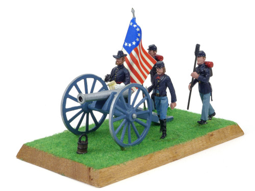Alymer Military Miniatures 240/A American Civil War Union Infantry Group and Artillery Diorama