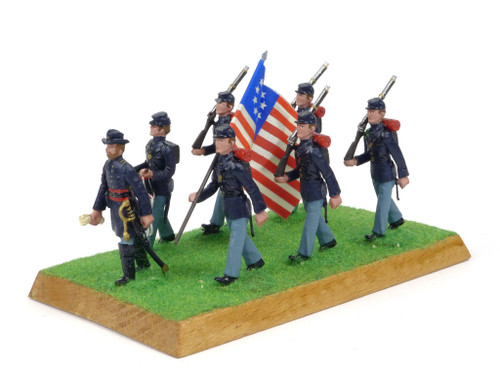 Alymer Military Miniatures 240/B American Civil War Union Infantry Group Diorama
