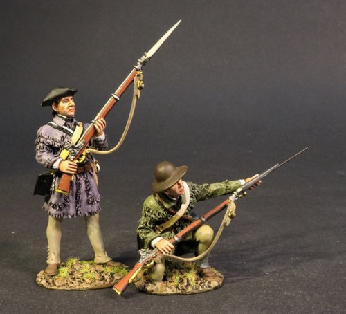 John Jenkins DAM-11C American Revolution Drums Along The Mohawk Two Militiamen