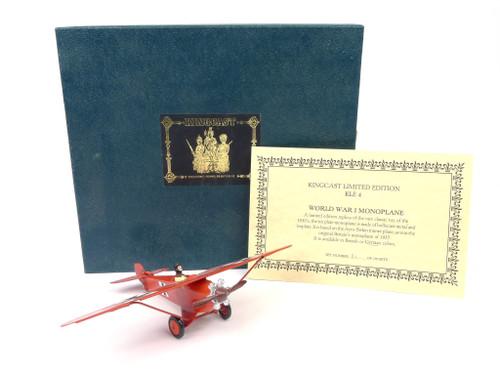 Kingcast Miniature Models KLE4 German World War I Monoplane Limited Edition