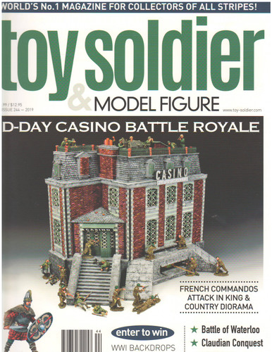 Toy Soldier & Model Figure Magazine Issue 244 D-Day Casino Battle Royale